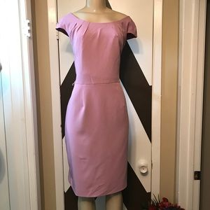 AA STUDIO AA GORGEOUS  PINK MIDI polyspandex dress